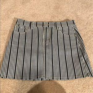 tillys striped denim skirt